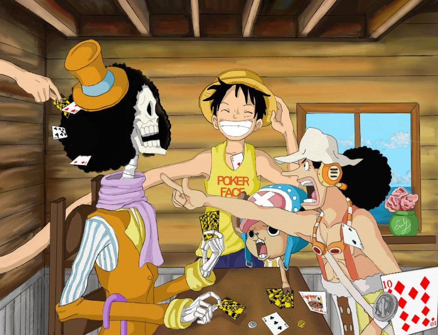 Image result for luffy playing cards