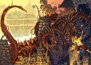 dragon novel cover by arf