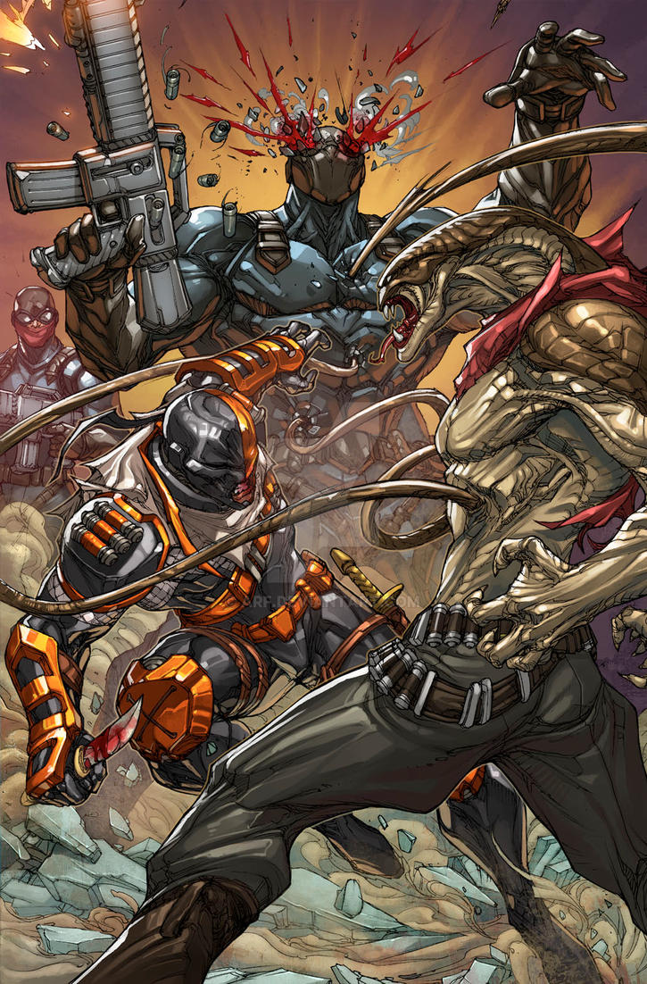 Deathstroke 19 Splash  by arf
