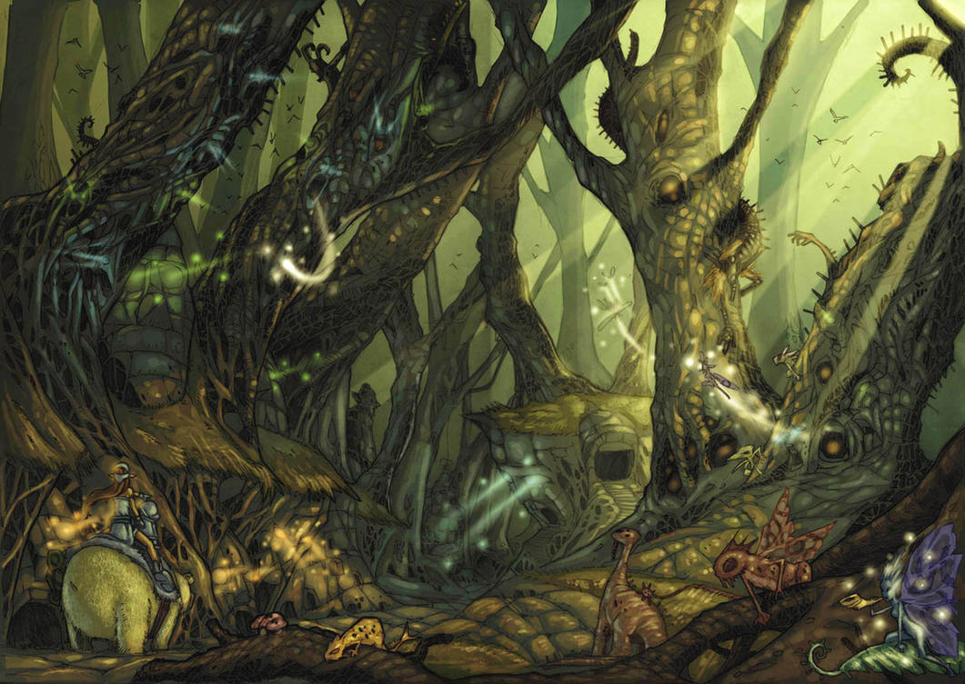 eredin forest by arf