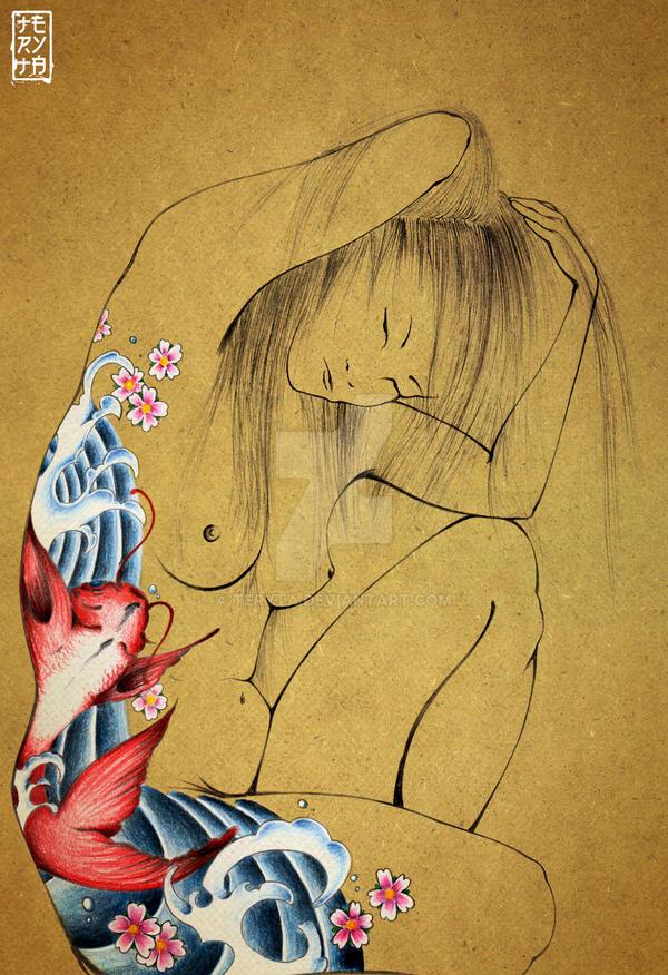 Japanese tattoo by teryta