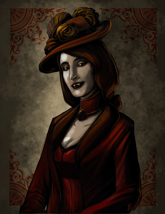 victorian vampire friend by Onikaizer
