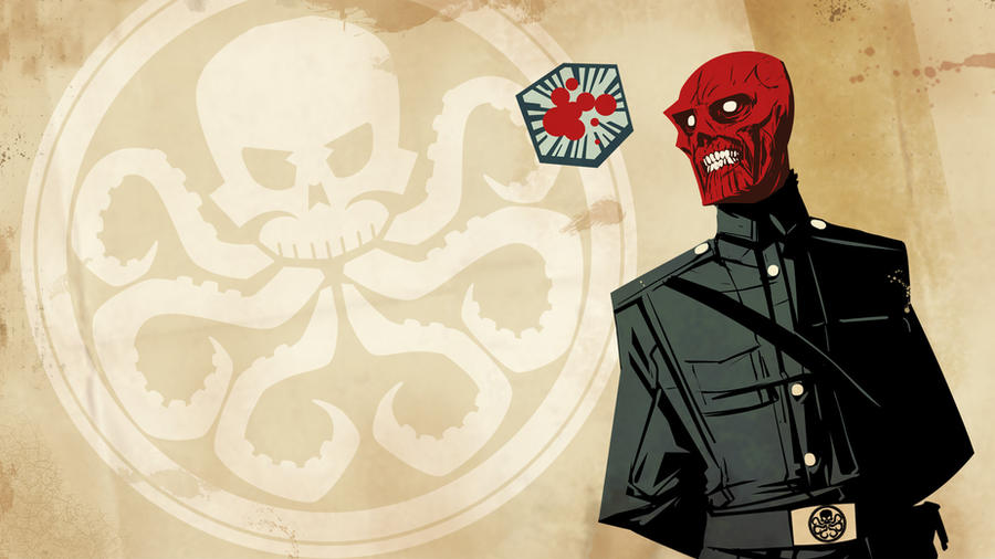 Red skull wallpaper by Onikaizer
