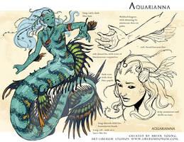 Aquarianna - mermaid aquarianna by Onikaizer