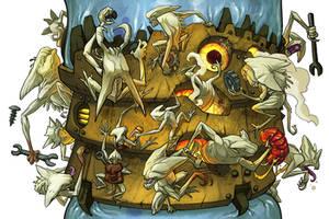 Infinite scroll monsters JUAN CALLE by Onikaizer
