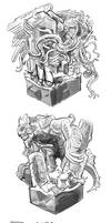daily monster sketch batch 05