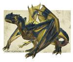 Blue mountain dragon