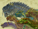 Dragon exhibit case