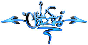 CHRIS Graffiti Tag COLOUR