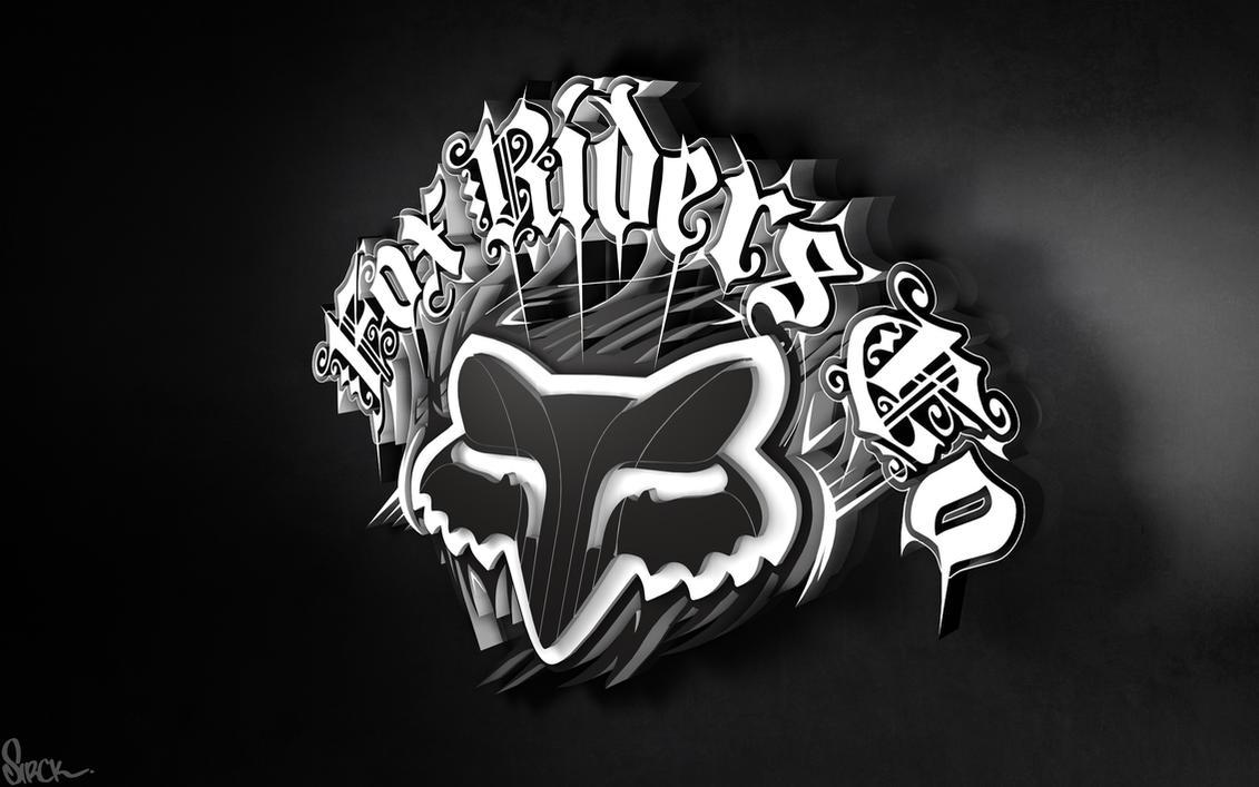 Fox Riders 3D Logo Wallpaper By Small Sk8er