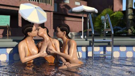 Dani's fun in the pool by T---M