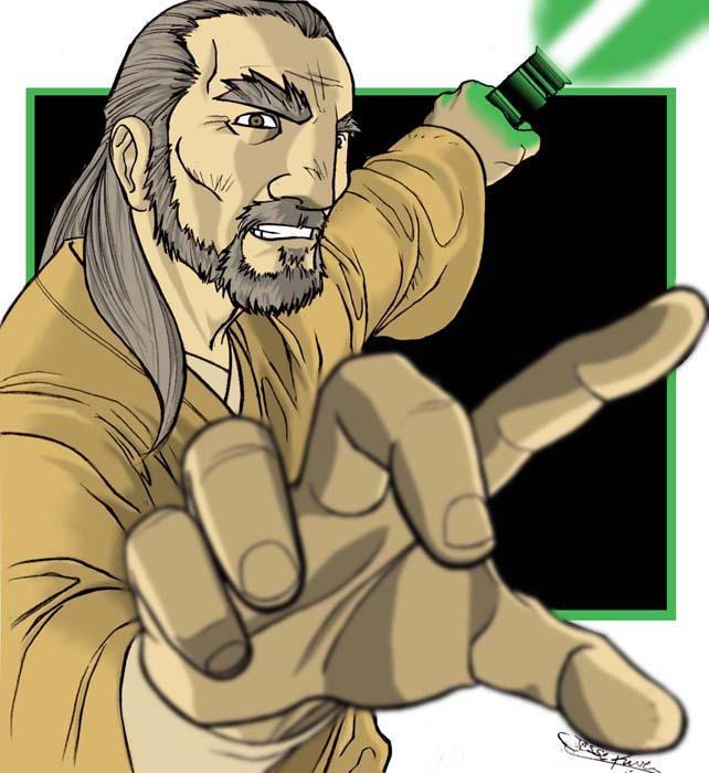 dessins et affiches star wars - Page 16 Jedi_Master_Qui_Gon_Jinn