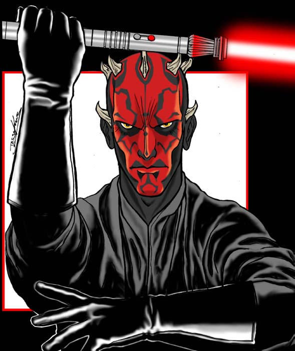 Sith Apprentice Darth Maul by chosen-1