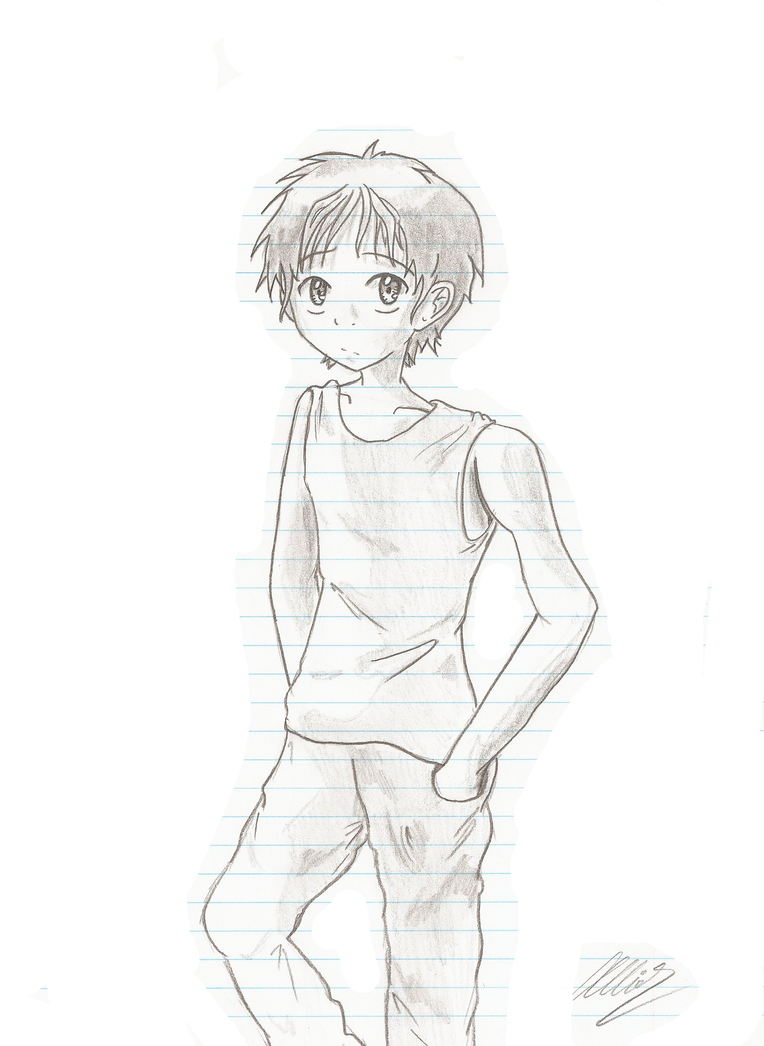 Boy Sketch By JesusfreaksRwe On DeviantArt