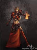 Blood Elf Mage by megillakitty