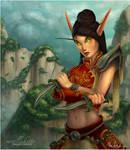 Jade Forest Blood Elf