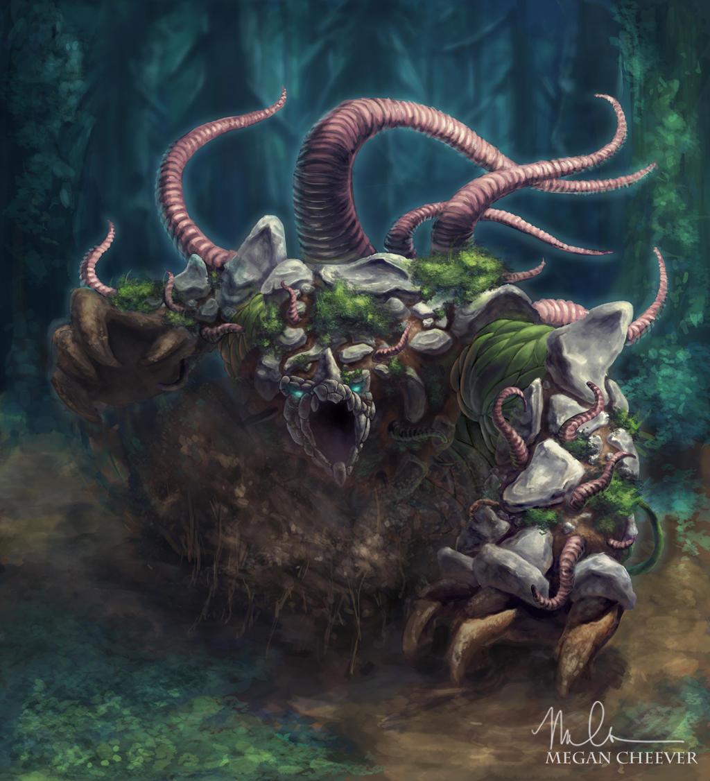 Earth Demon by megillakitty