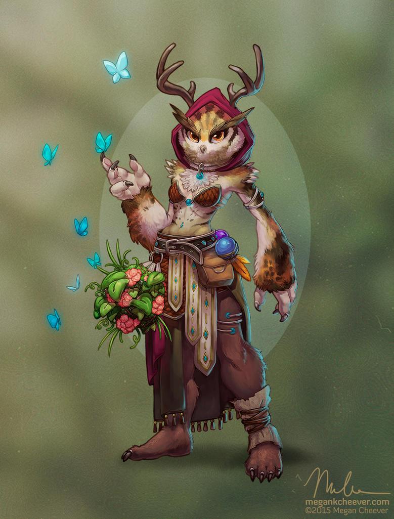 Owlbeast Druid by megillakitty