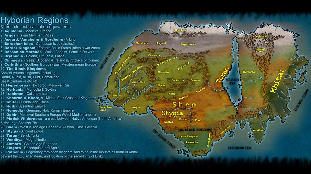 Hyborian Regions by JV-Andrew
