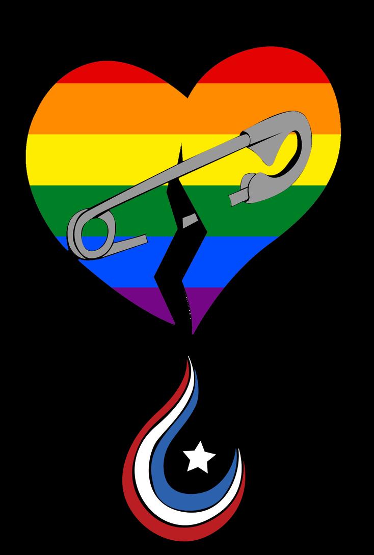 LGBT Hearts bleed American by Elleyena-Rose