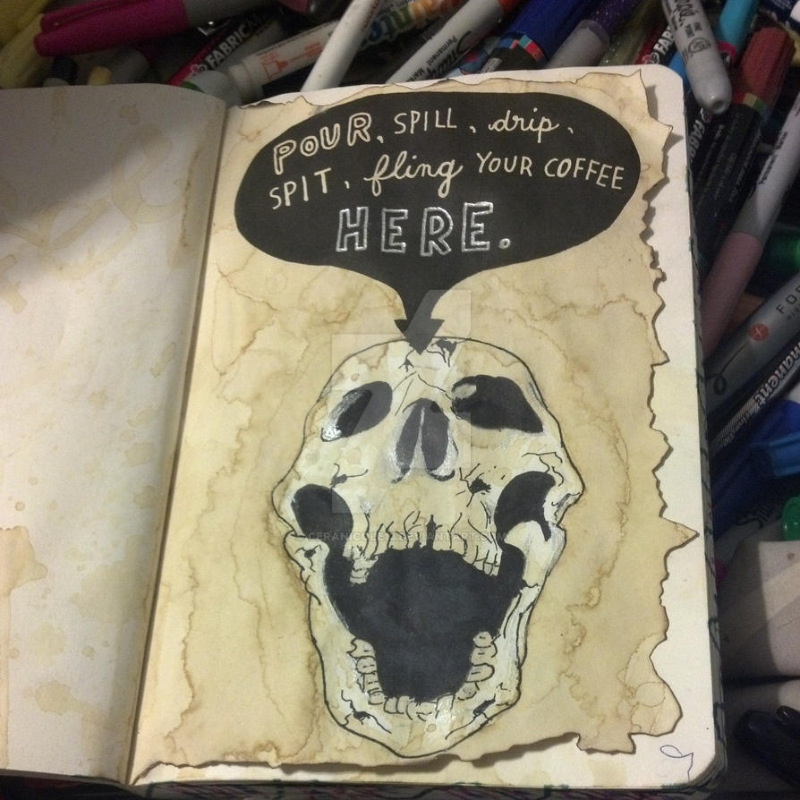 Wreck This Journal -- Pour, Spill, Drip, Spit... by CeraNicole13