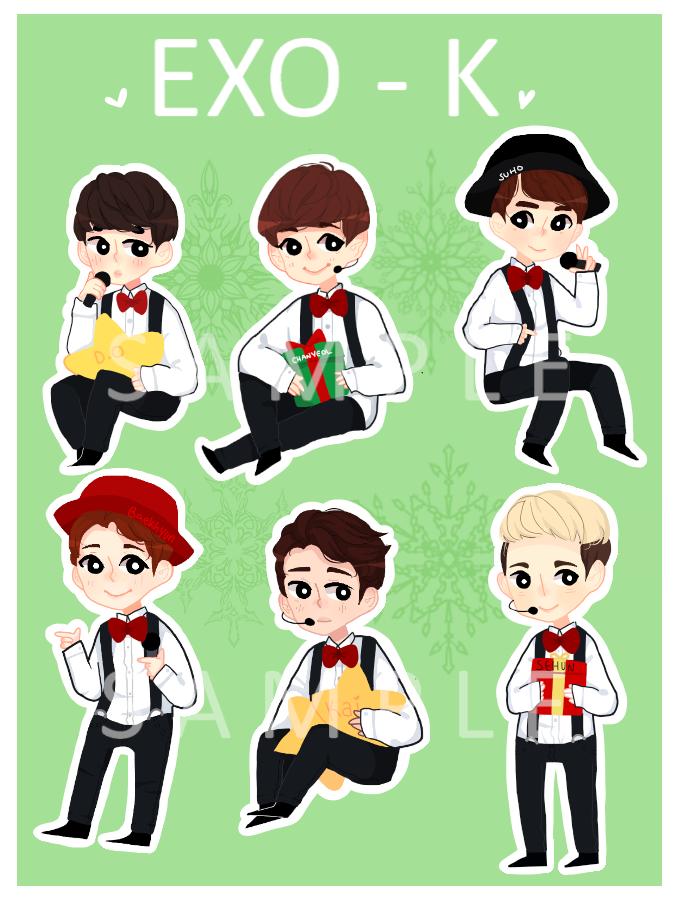 Exo K Christmas Day Sticker Set By Sunnydea On Deviantart