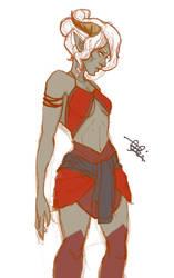 Adahara - Qunari design by marpie