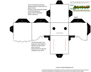 cubeecraft_template_female_v2 by MysterMDD