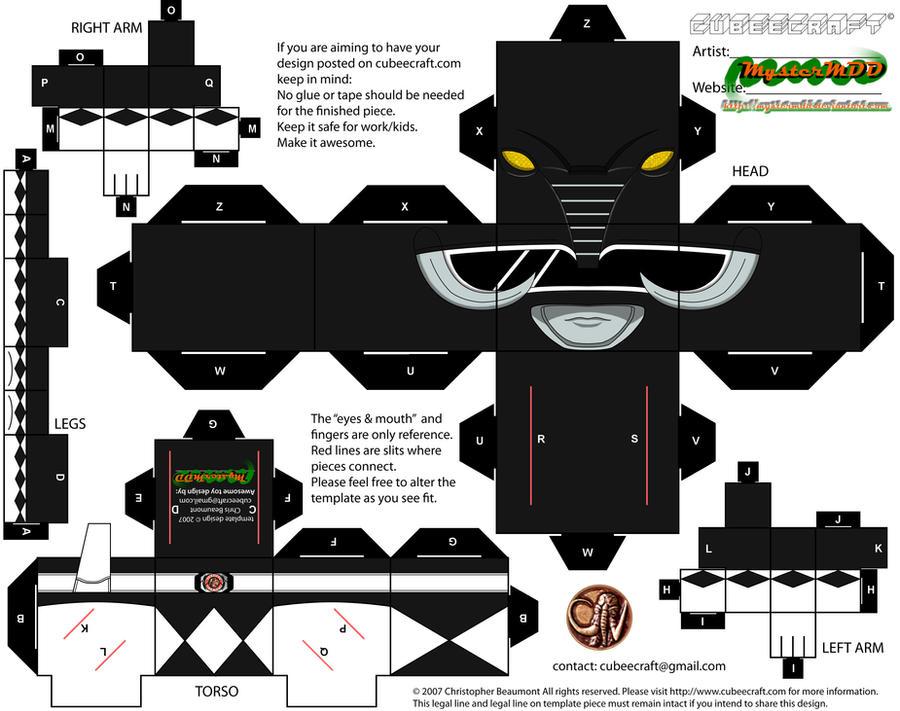 MMPR - Black Ranger by MysterMDD