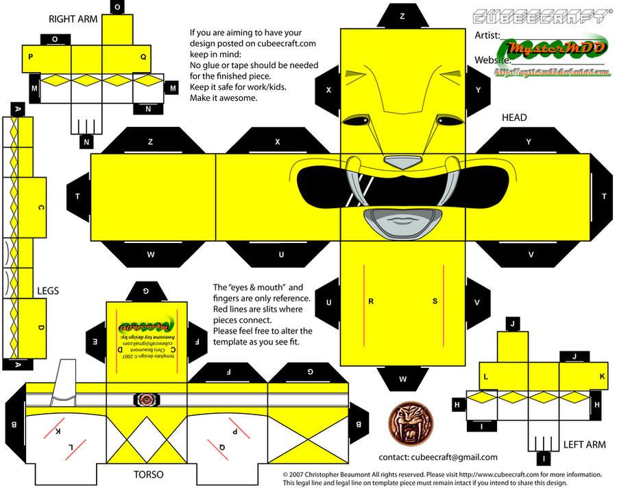 MMPR - Yellow Ranger by MysterMDD