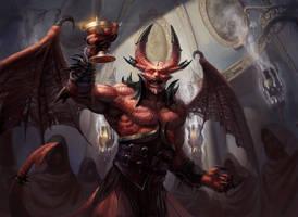 MTG: Bloodgift Demon by PeteMohrbacher