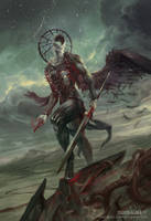 Simikiel, Angel of Vengeance by PeteMohrbacher