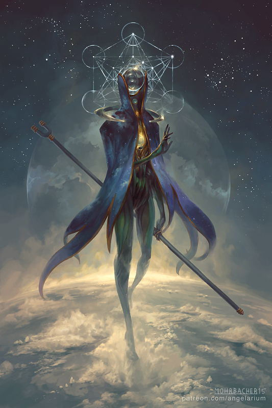 Eistibus, Angel of Divination by PeteMohrbacher