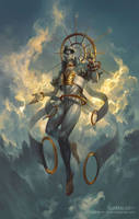Sahaqiel, Angel of the Sky by PeteMohrbacher