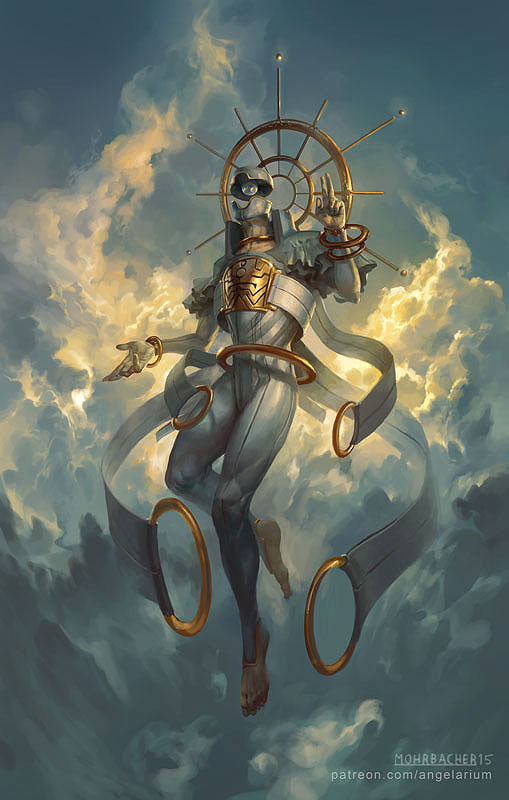 Sahaqiel Angel of the Sky by PeteMohrbacher on DeviantArt
