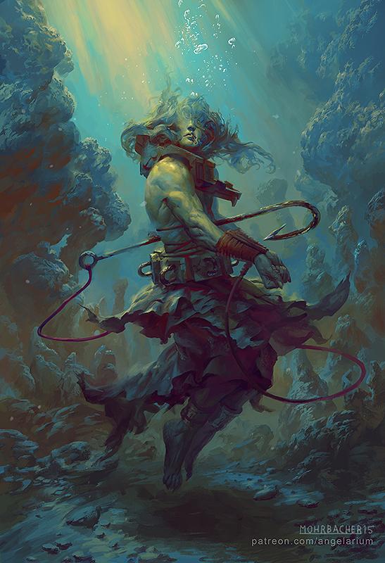 Rahab, Angel of the Deep by PeteMohrbacher