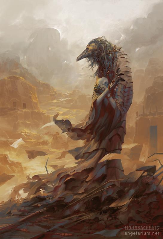 Asbeel, Angel of Ruin by PeteMohrbacher