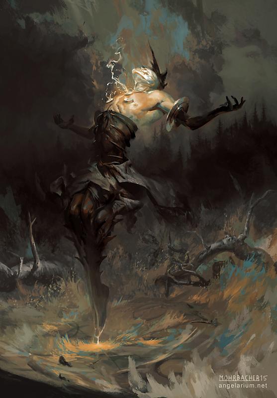 Baraqiel, Angel of Lightning by PeteMohrbacher