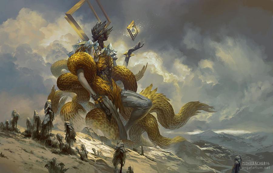 Archangel Gabriel, The Golden Herald by PeteMohrbacher
