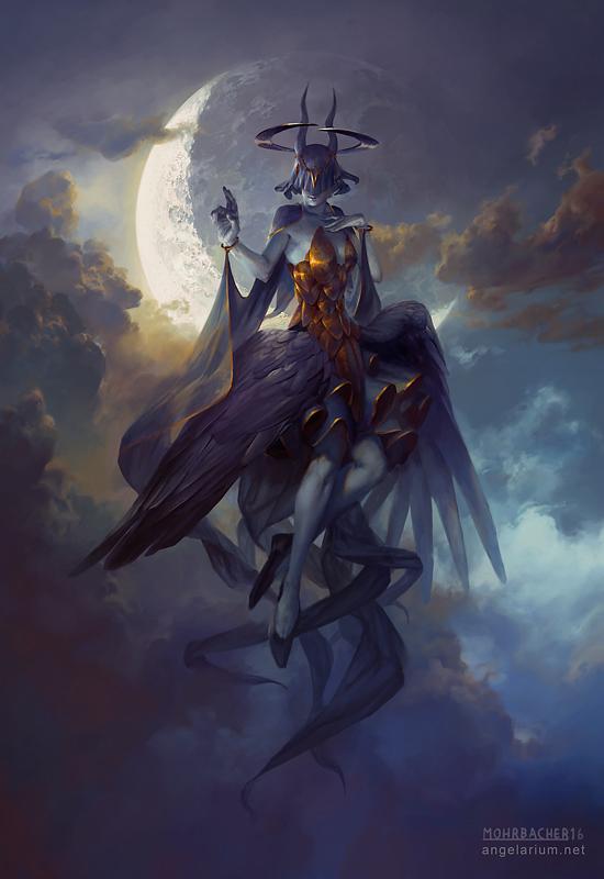 Leliel, Angel of Night by PeteMohrbacher