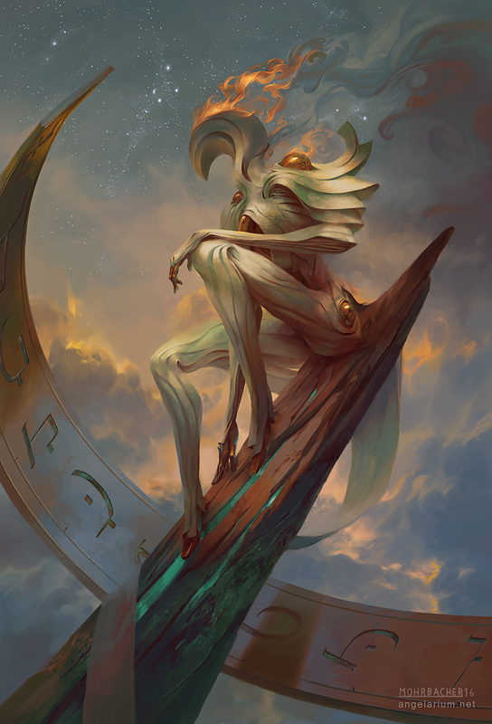 Remph, Angel of Time by PeteMohrbacher