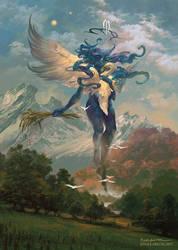 Hamaliel, Angel of Virgo by PeteMohrbacher