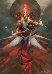 Malahidael, Angel of Aries by PeteMohrbacher