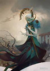 Babriel, Angel of Scorpio by PeteMohrbacher