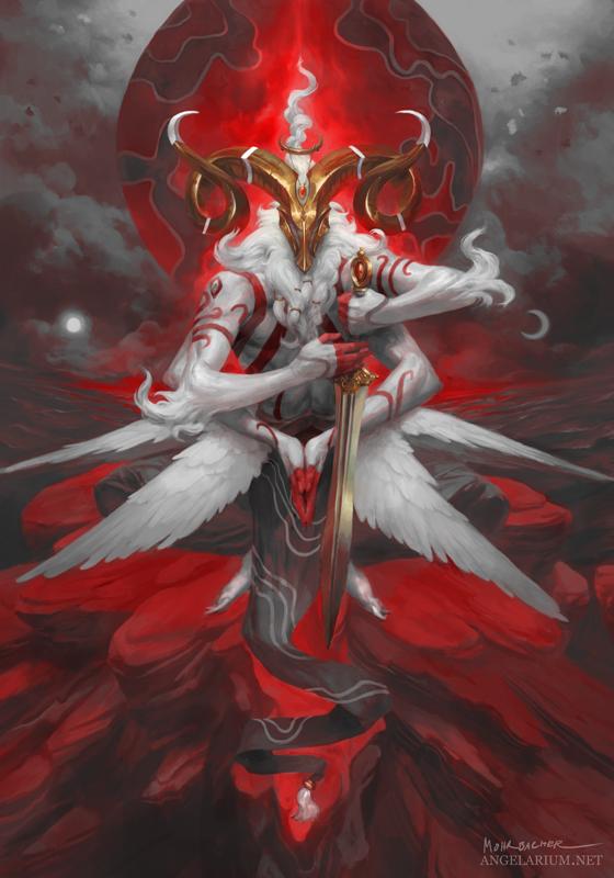 Malahidael, Angel of Aries - Timed Edition by PeteMohrbacher