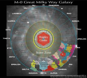 Star Fleet Battles - Galaxy Map
