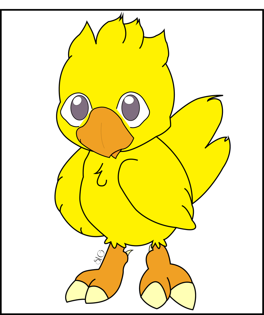 Colored Chocobo by SIDNEYG