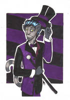 Cool Cat in Purple and Black by Sanwall