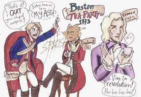 Boston Tea Party: Hetalia by Sanwall
