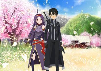 Sword Art Online - Kirito x Yuuki - Wallpaper 2 by Tsadeek
